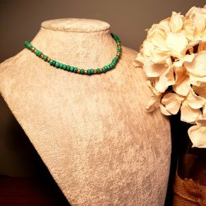 Jewelry - Turquoise &14K Gold Necklace